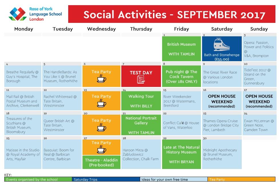 September Calendar 2017